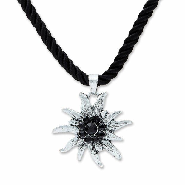 Edelweiss Necklace Black 028-08-13