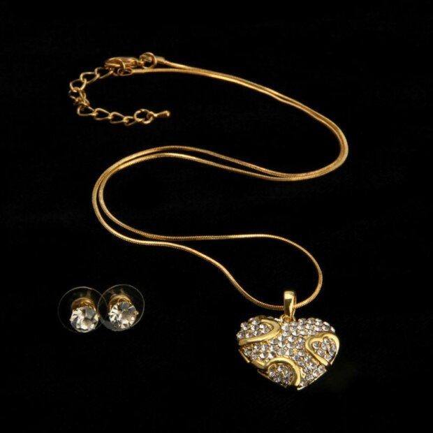 Set Kette + Ohrringe plating/gold